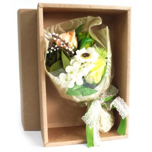 Boxed Hand Soap Flower Bouquet - Greens