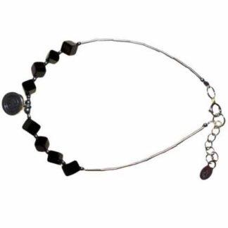 Black Stone and Silver Bracelet