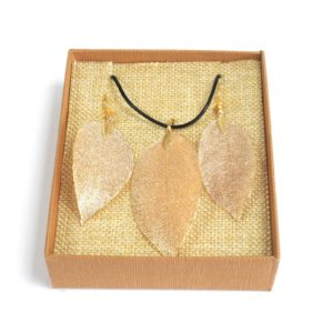 Real Leaf Jewellery Gift Bravery Leaf Gold