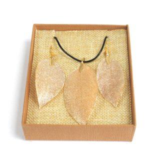 Real Leaf Jewellery Gift Bravery Leaf Gold