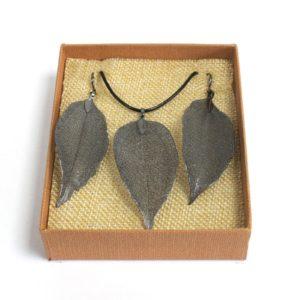 Real Leaf Jewellery Gift Bravery Leaf Pewter