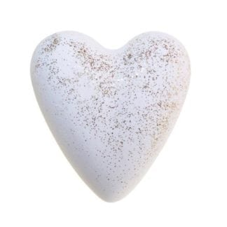 Christmas Star Bath Heart - White