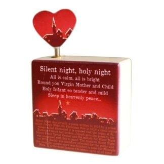 Christmas Wooden Music Box - Silent Night